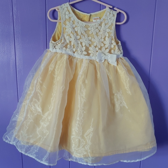 GYMBOREE Beautiful Yellow Lace Easter Dress Spring Nwt Girls Size 3t